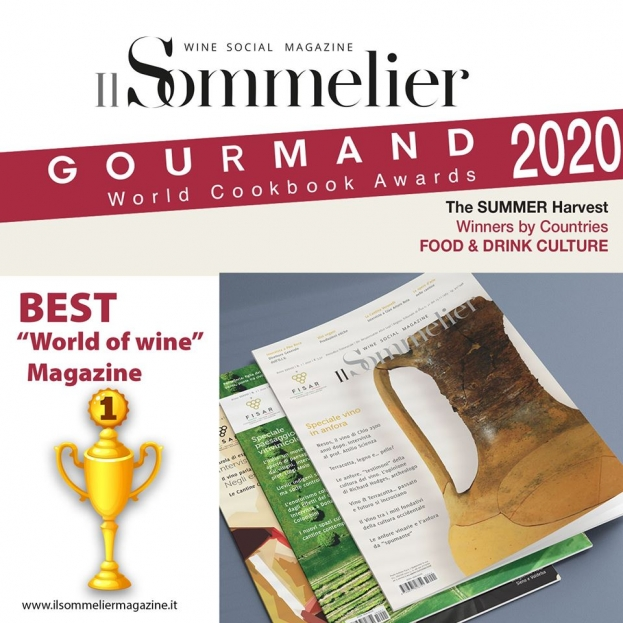 Il Sommelier premiato dal Gourmand World Cookbook Awards come miglior periodico Italiano