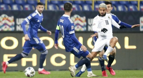 Nations League: l'Italia batte la Bosnia a Sarajevo e vola in final four. Gol di Berardi e Belotti